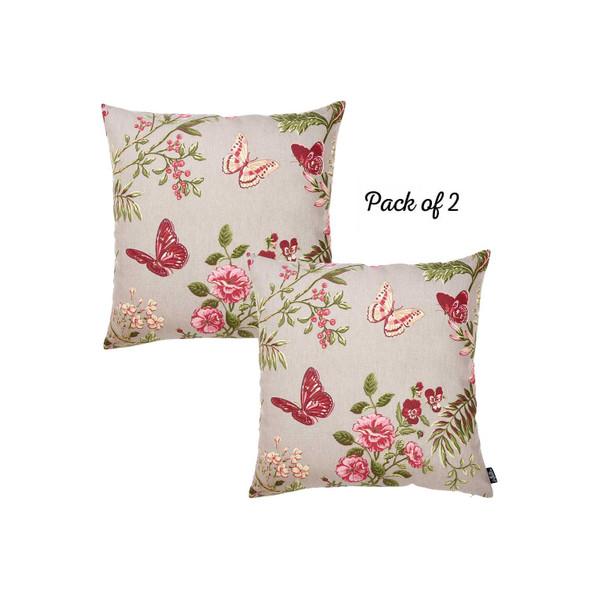 "20 ""x 20"" Easycare Decorative Throw Pillow Case Set Of 2 Pcs Square - 355382"