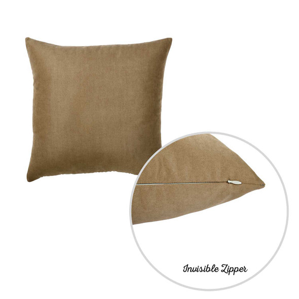 "20""x20""Brown Honey Totilla Decorative Throw Pillow Cover 2 pcs in set"