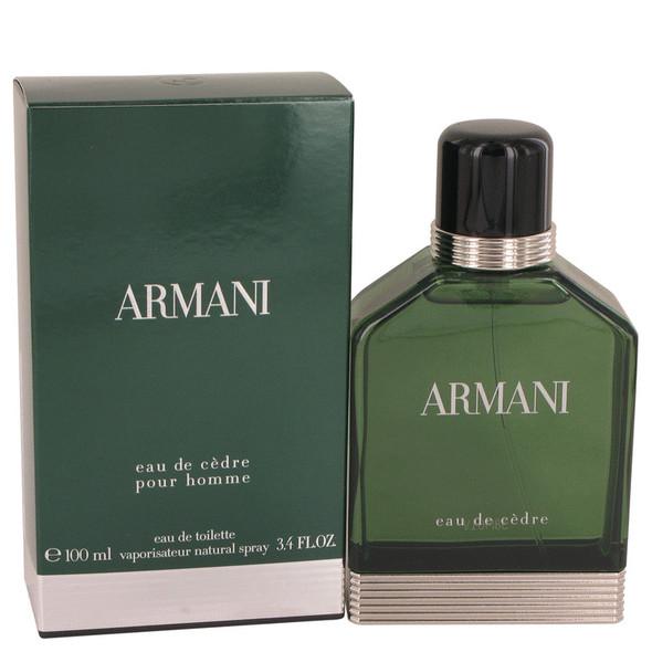 Armani Eau De Cedre by Giorgio Armani Eau De Toilette Spray 3.4 oz for Men