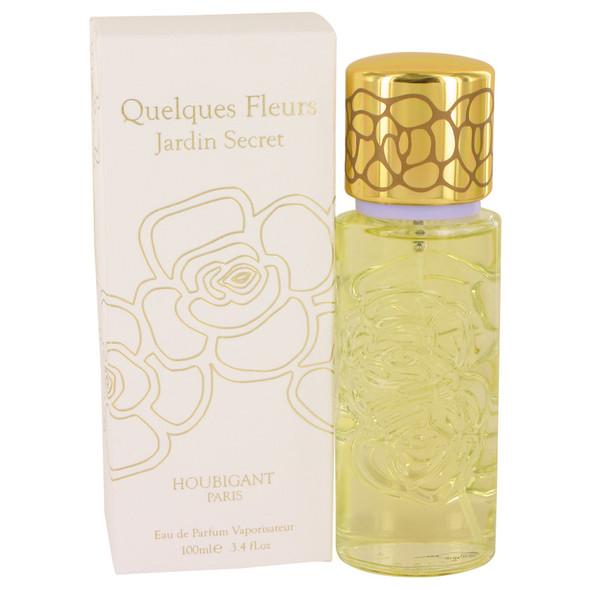 Quelques Fleurs Jardin Secret by Houbigant Eau De Parfum Spray 3.4 oz for Women