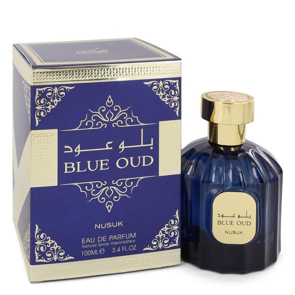 Nusuk Blue Oud by Nusuk Eau De Parfum Spray (Unisex) 3.4 oz for Women