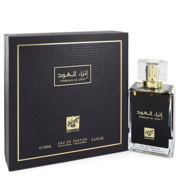 Rihanah Ithrah Al Oud by Rihanah Eau De Parfum Spray (Unisex) 3.4 oz for Women