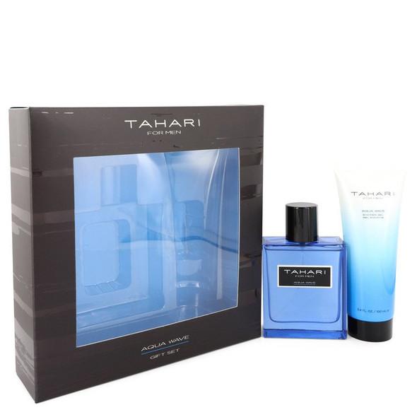 Tahari Aqua Wave by Tahari Gift Set -- 3.4 oz Eau De Toilette Spray + 3.4 oz Shower Gel for Men