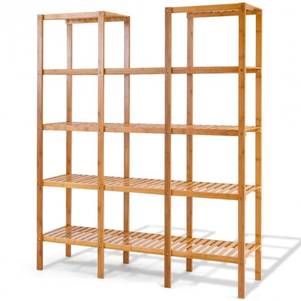 Multifunctional Bamboo Shelf Flower Plant Display Stand - COHW66296