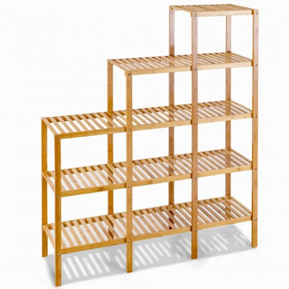 Multifunctional Bamboo Shelf Display Organizer - COHW66299