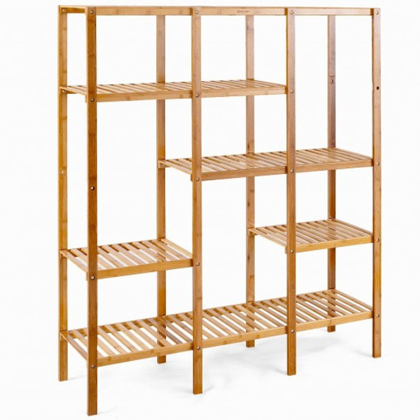 Multifunctional Bamboo Shelf Storage Organizer Rack - COHW66298