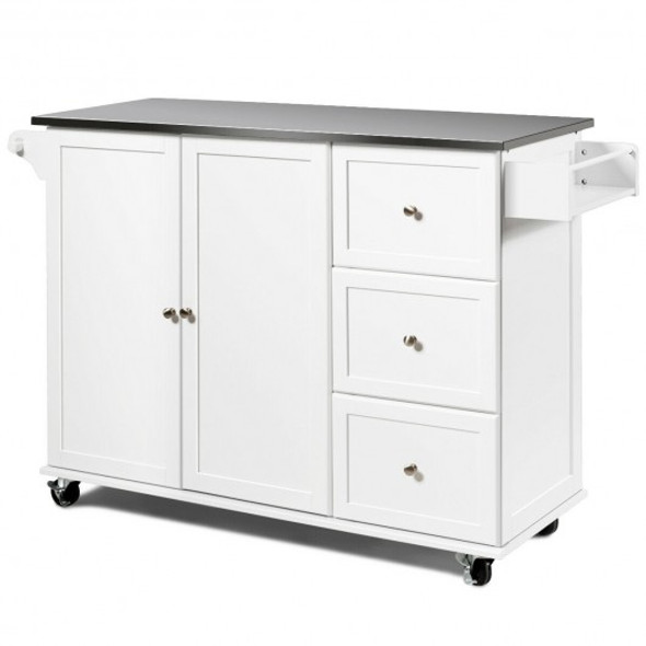 Kitchen Island 2-Door Storage Cabinet