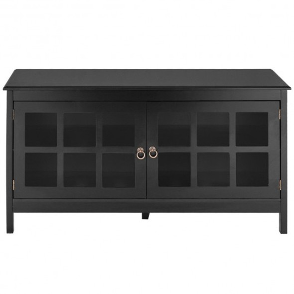 """50"""" TV Stand Modern Wood Storage Console with 2 Doors"""