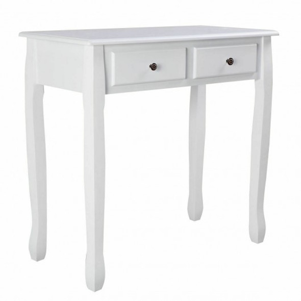 White Vanity Makeup Dressing Table with 4 Drawers - COHW66128