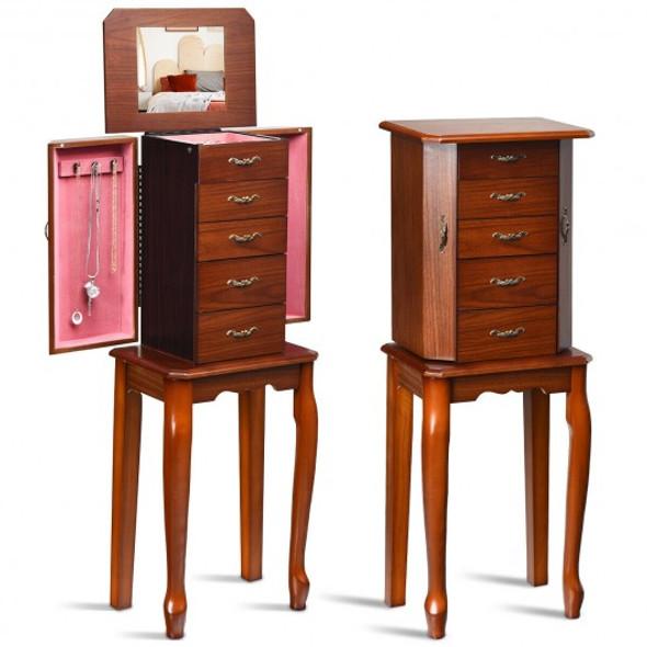 Jewelry Cabinet Armoire Storage Chest Stand Organizer
