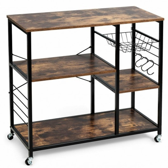 Rolling Industrial Kitchen Bakers Storage Shelf