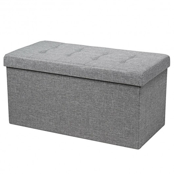 "31.5"" Fabric Foldable Storage with Removable Storage Bin-Light Gray"