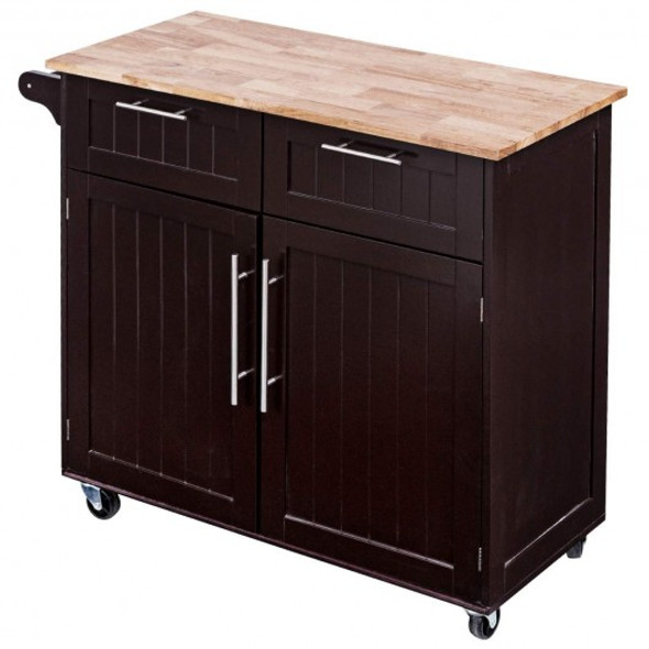 Heavy Duty Utility Modern Rolling Kitchen Cabinet Cart