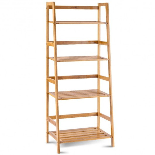 Multifunctional 4 Shelf Bamboo Plant Flower Storage Stand Rack - COHW66300