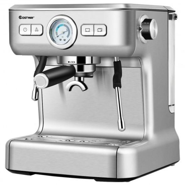 15 Bar Semi-Auto Espresso Coffee Maker Machine /w Milk Frother Steam Wand