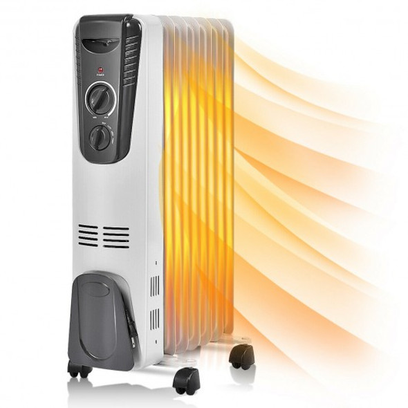 1500 W Electric Oil Filled Radiator Space Heater