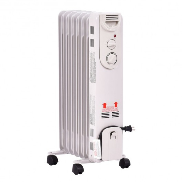 1500 W Electric Oil Filled Radiator Space Heater - COEP22610