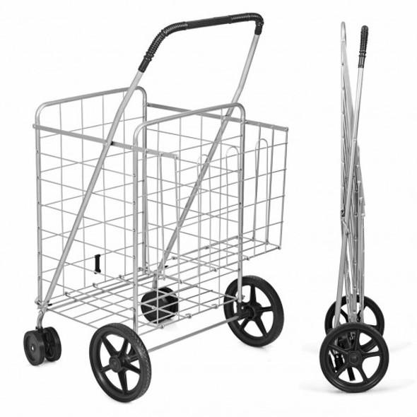 Utility Foldable Jumbo Shopping Cart