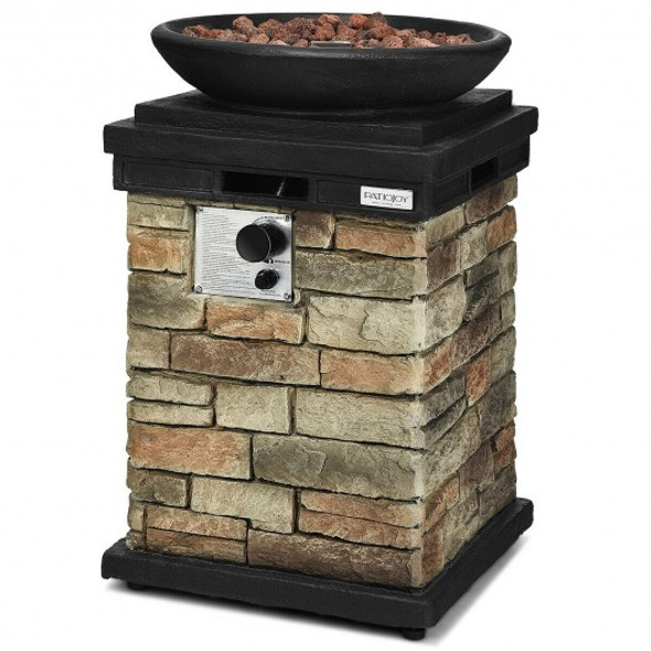 40 000 BTU Patio Propane Burning Fire Bowl Column