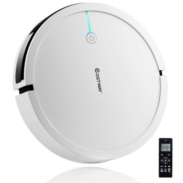 Robot Vacuum Cleaner 2000 Pa Strong Suction Filter-White