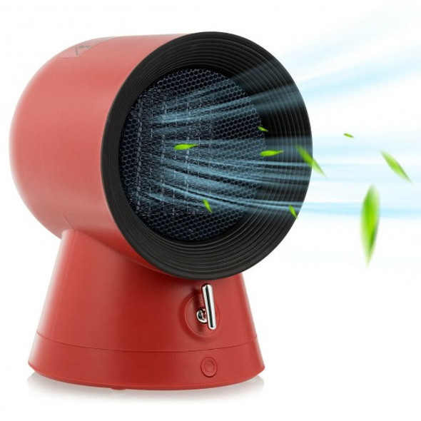 1500 W Portable Mini Electric Desktop Fan heater-Red