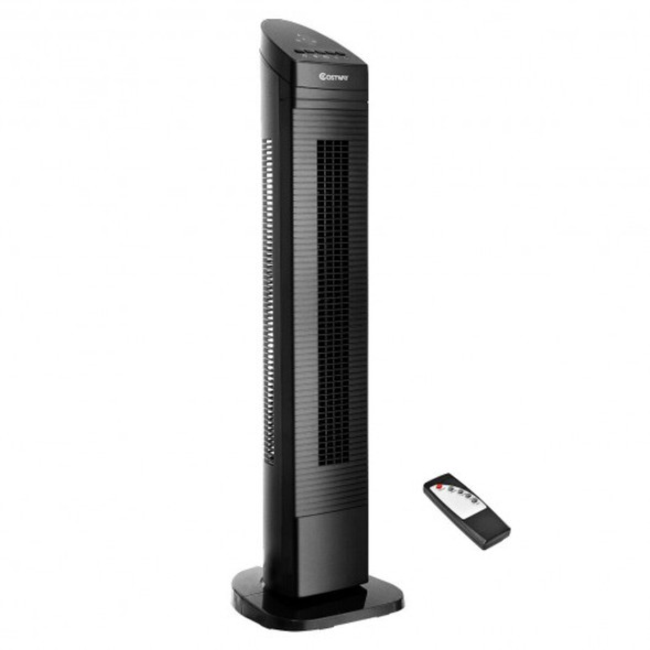 "35"" Black LED Digital Remote  Control Tower Fan"