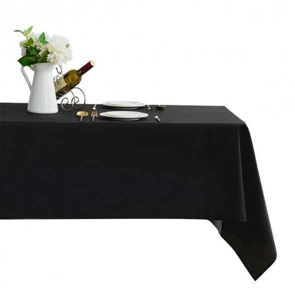 "10 pcs 60"" x 102"" Rectangle Polyester Tablecloth-Black"