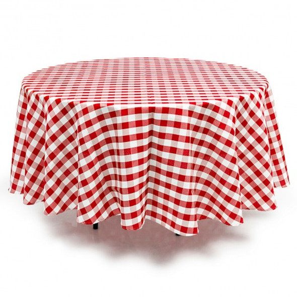 2 Pcs Stain Resistant and Wrinkle Resistant Table Cloth-Red