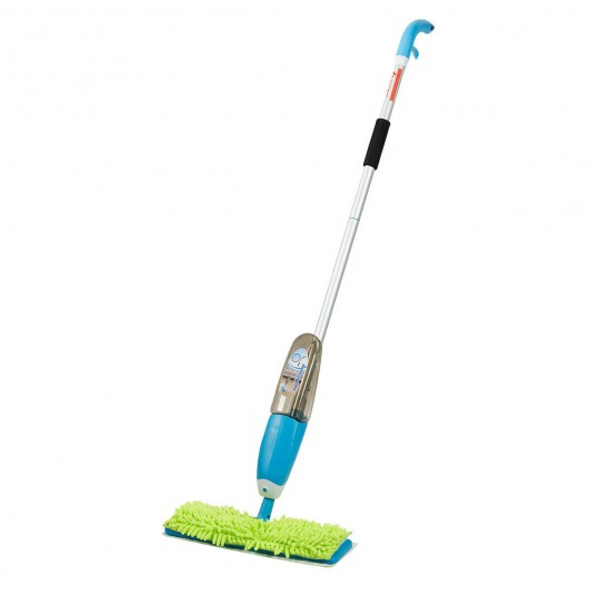 Double Sided Flip Spray Mop with Refillable Bottle and Washable Pads