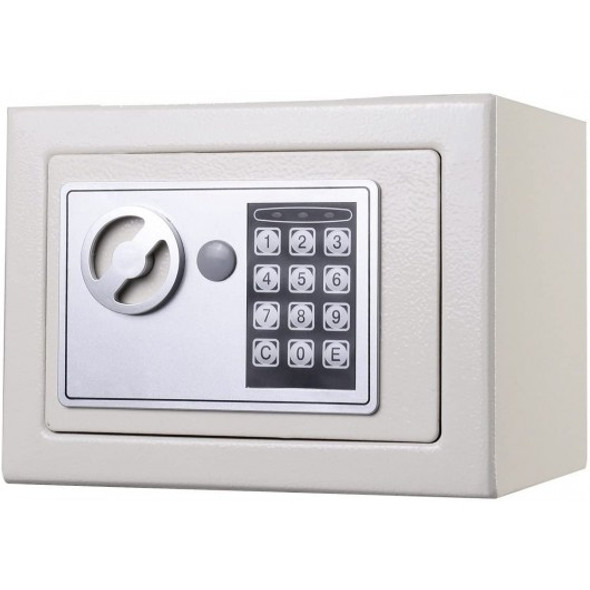 Small Digital Electronic Safe Box-White