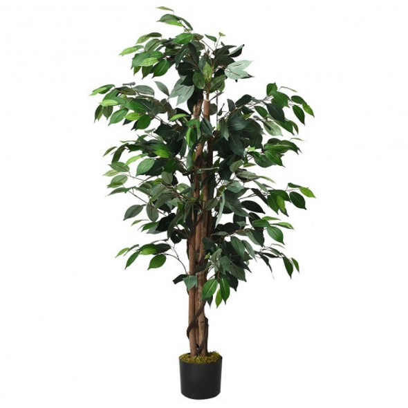 4 Feet In/Outdoor Trunks Artificial Ficus Silk Tree