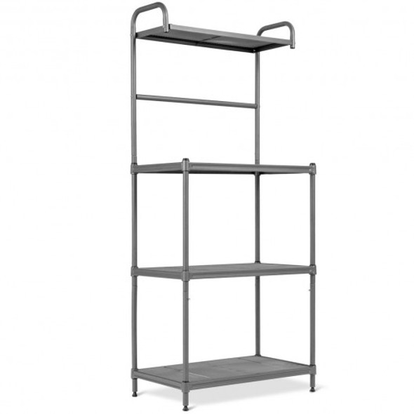 4-Tier Bakers Rack Stand Shelves Kitchen Storage Rack Organizer