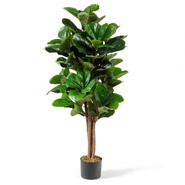 5ft Artificial Fiddle Leaf Fig Tree Decorative Planter