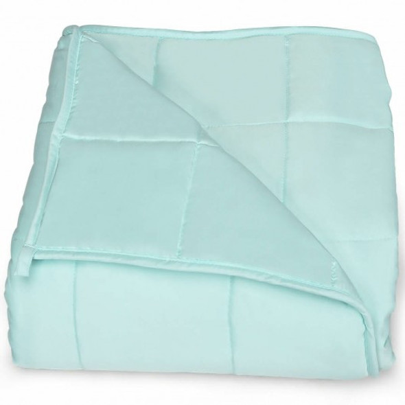 """7lbs 41"""" x 60"""" Premium Cooling Heavy Weighted Blanket-Light Green"""