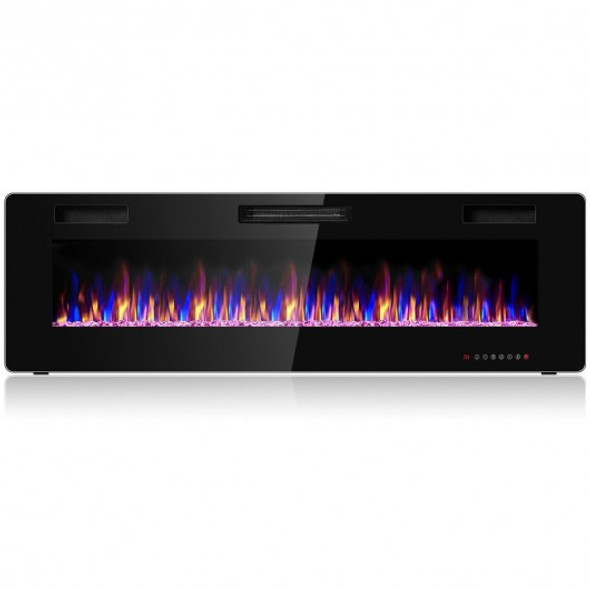 "60"" Recessed Ultra Thin Wall Electric Fireplace"
