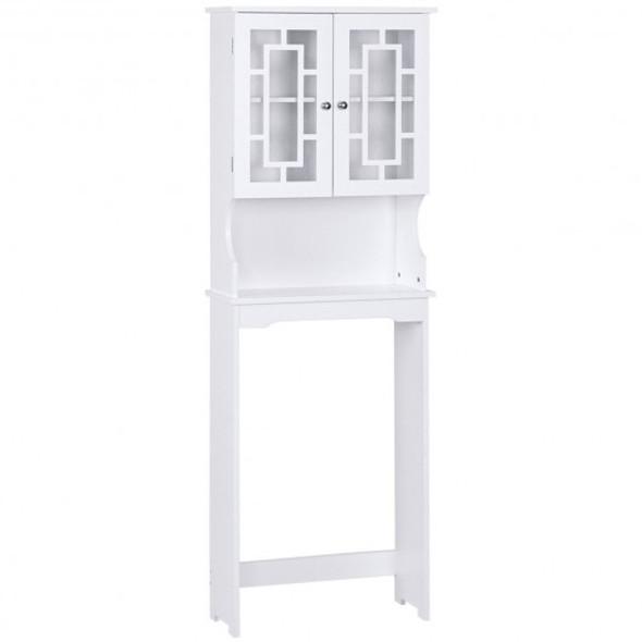 Bathroom Spacesaver Over the Toilet Door Storage Cabinet