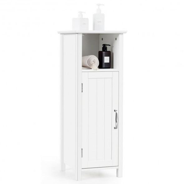 Bathroom Adjustable Shelf Floor Storage Cabinet with Door