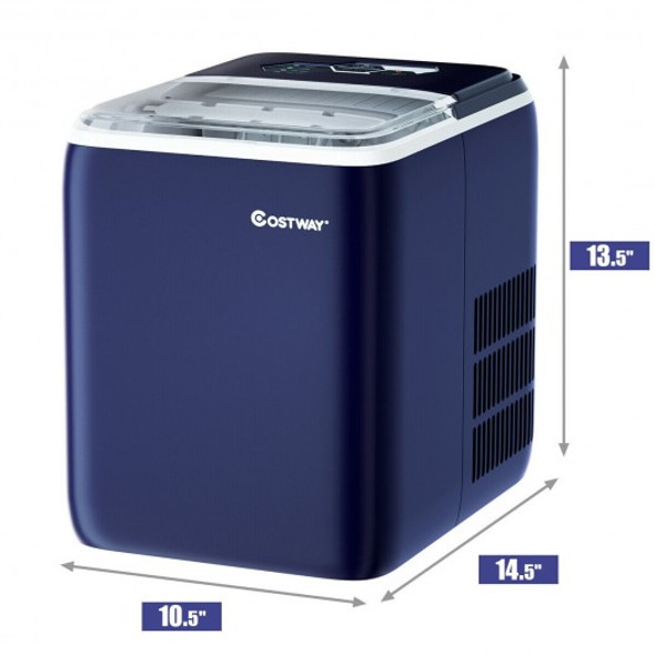 44 lbs Portable Countertop Ice Maker Machine with Scoop-Navy