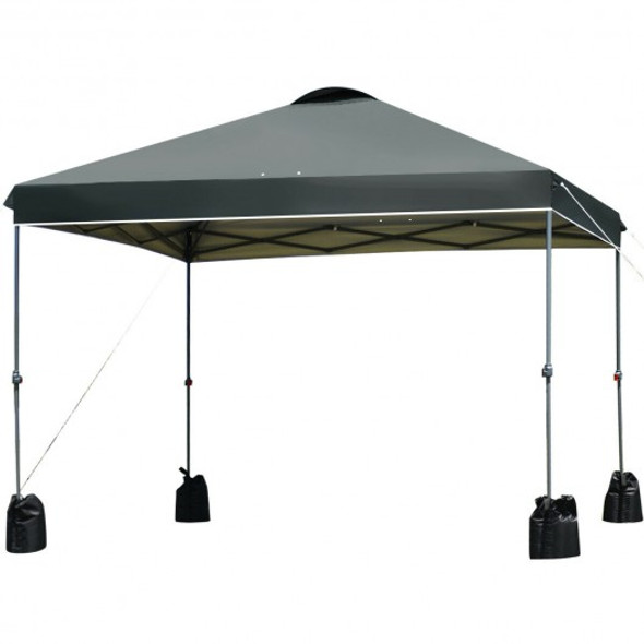 10x10' Outdoor Commercial Pop up Canopy Tent-Gray