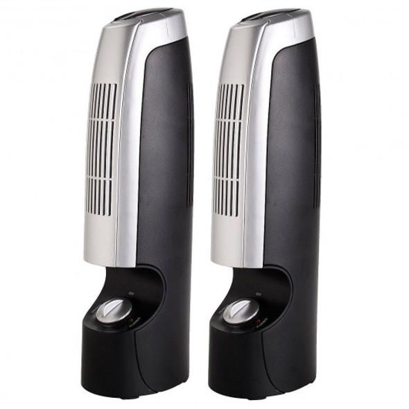 2 pcs Mini Ionic Whisper Home Air Purifier