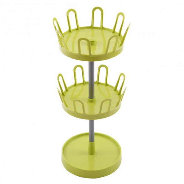 2-Tier 8 Pairs Upright Revolving Shoe Rack