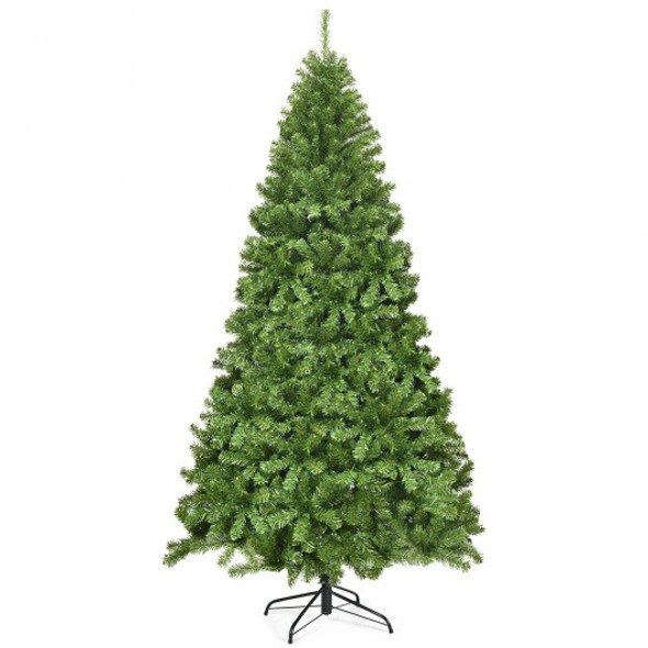 7.5Ft Unlit Hinged PVC Artificial Christmas Tree