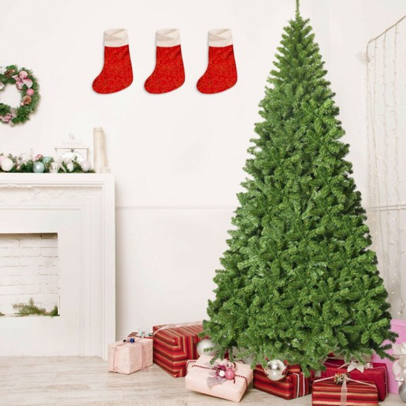 9Ft Unlit Hinged PVC Artificial Christmas Tree