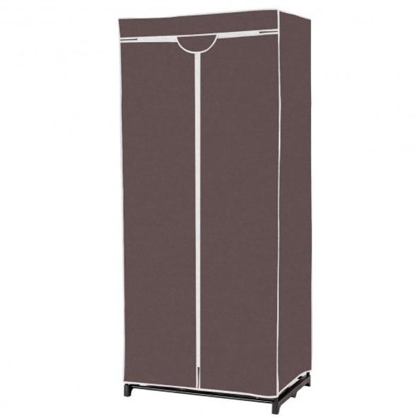 Non-woven Fabric Wardrobe Storage Portable Clothes Closet-Brown