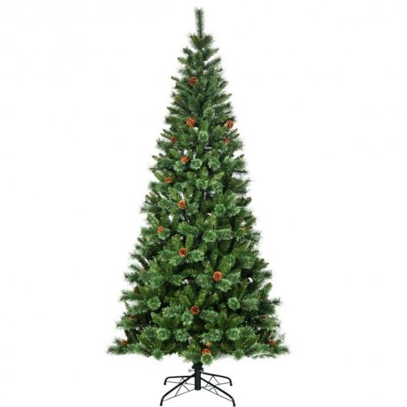 8 ft Premium Hinged Artificial Christmas Tree Pine Needles