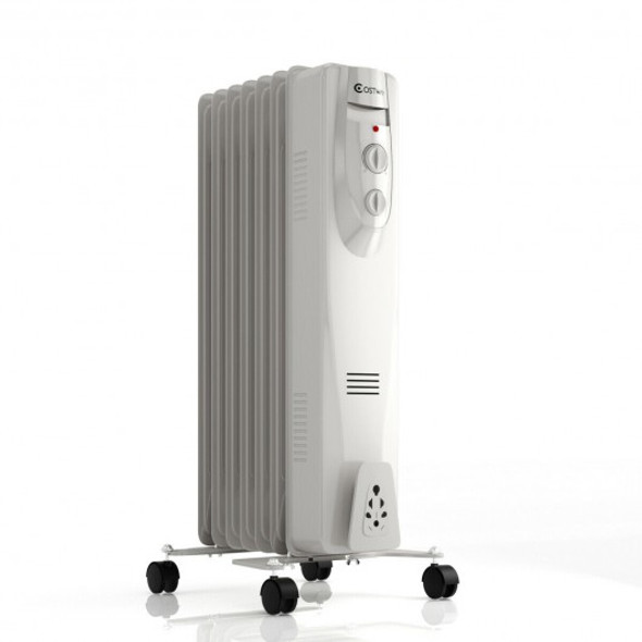 1500W 7-Fin Portable Electric Oil Filled Radiator Heater - COEP24151