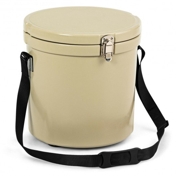 13 Quart Portable Ice Cooler with Strap 18 Cans