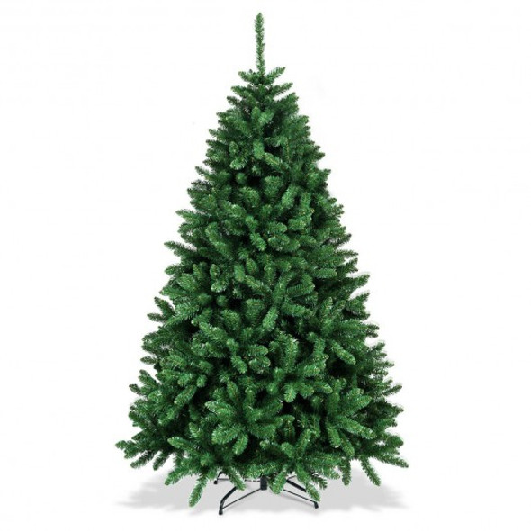 LUCKTREE 6 Ft Hinged Artificial Christmas Tree with Solid Metal Stand