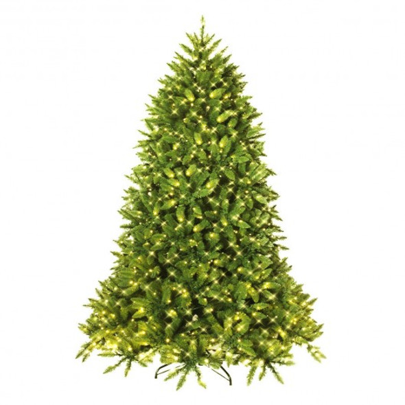 Premium Hinged Artificial Fir Christmas Tree with LED Lights-5 ft