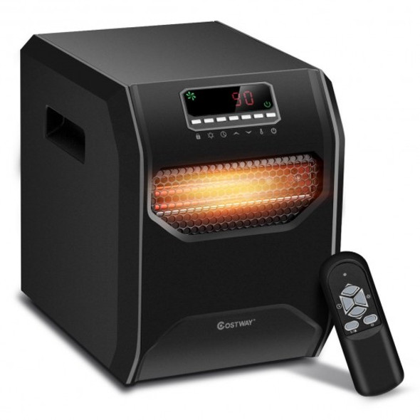 12 H Timer LED Remote Control Portable Electric Space Heater